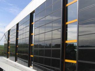 Облицовка фасадов солнечными панелями